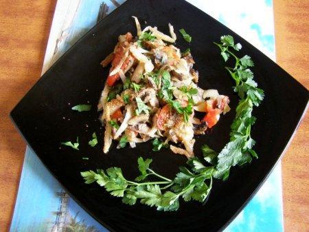 Овощная запеканка с грибочками