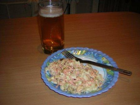 "Салатик ""Надежда"" или ужин для холостяка"