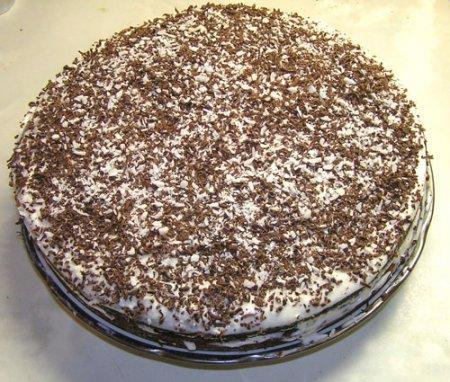 Простой торт из киселя