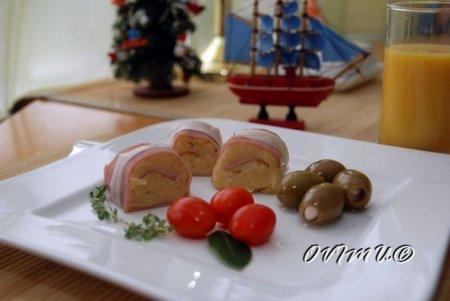Ветчино- картофельные роллы