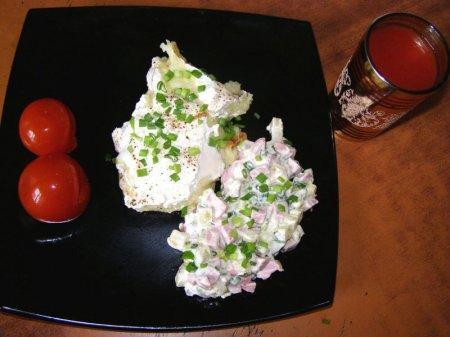 Яйца Пармантье с салатом (фото рецепт)