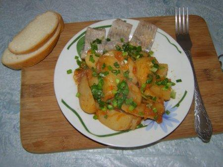 Картофель запеченный в духовке с болгарским перцем
