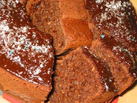 Творожно-кокосовый кекс с какао