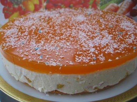 Персиковый торт- суфле