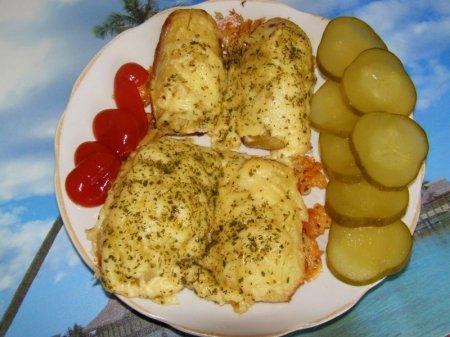 Картофель, запечённый под сыром