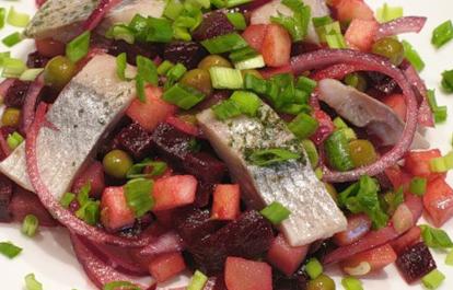 Рецепт салата из свеклы с сельдью
