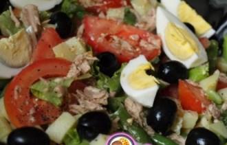 Рецепт салата из тунца и яиц