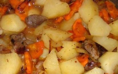 Рецепт тушёных баклажанов с картошкой