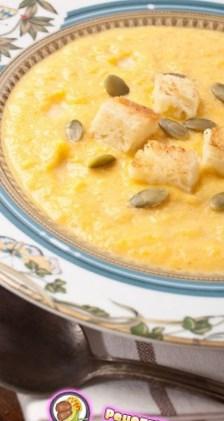 Рецепт тыквенного супа с грушами и корицей