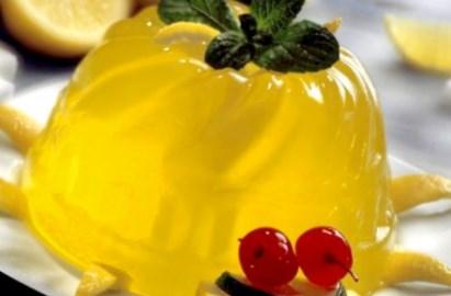 Рецепт легкого лимонного желе