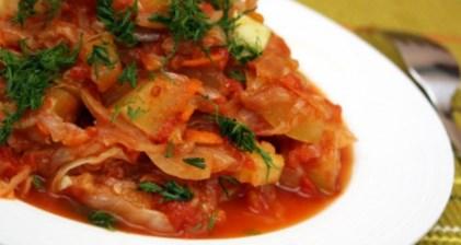 Рецепт рагу из кабачков и капусты