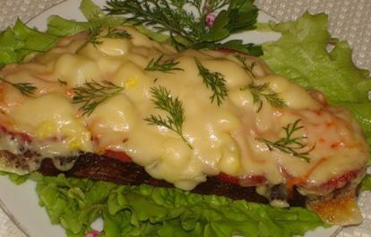 Рецепт бутербродов с помидорами и сыром