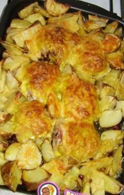 Новогодний рецепт курицы под картошкой