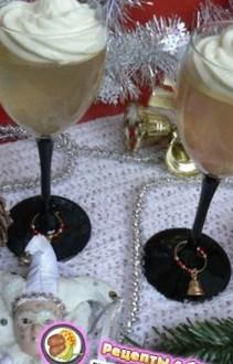 Новогодний рецепт десерта из шампанского