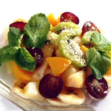 Рецепт фруктового салата с мороженым