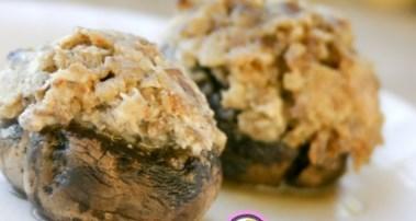 Новогодний рецепт грибов, фаршированых сыром