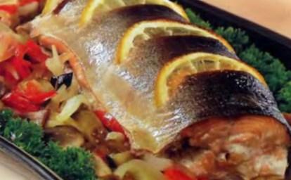 Новогодний рецепт рыбы с лимоном и шампанским