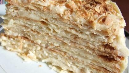 Рецепт слоеного торта со сливочным кремом