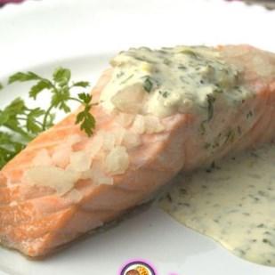 Рецепт на 14 февраля - Сёмга под сливочно-укропным соусом
