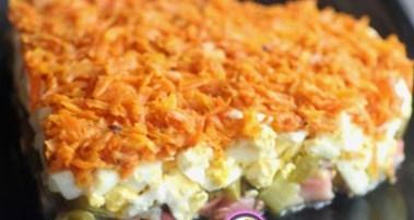 Рецепт на 14 февраля - Салат «Оранжевое сердце»