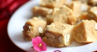 Рецепт на День Святого Валентина - Ванильная сливочная помадка с орехами