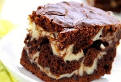 Рецепт на 14 февраля - Шоколадно-творожный мраморный пирог
