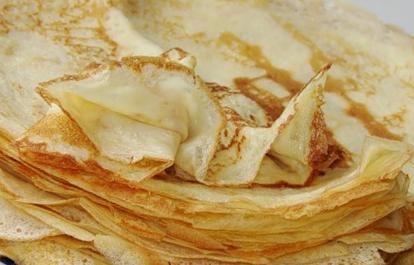 Рецепт орехово-лимонных блинчиков на сливках- Блины на Масленицу