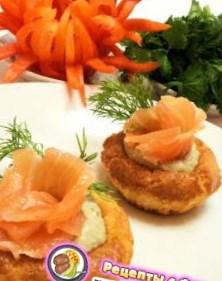 Рецепт на 8 марта - Тарталетки с творожным кремом и красной рыбой