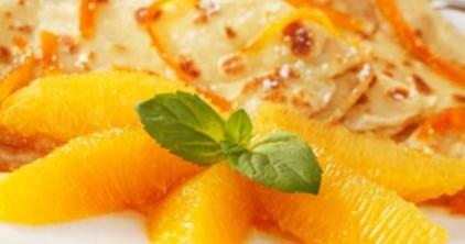 Рецепт экзотических фруктовых блинов на Масленицу