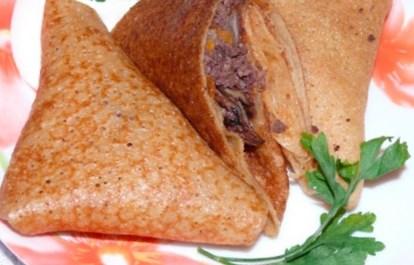 Рецепт блинчиков с ливером и грибами - рецепт блинов на Масленицу