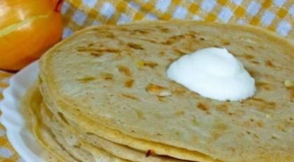 Рецепт овсяных блинчиков с луком - рецепт блинов на Масленицу