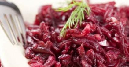Рецепт постного свекольного салата с хреном