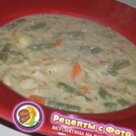 Рецепт супа из стручковой фасоли, кислой капусты и картофеля