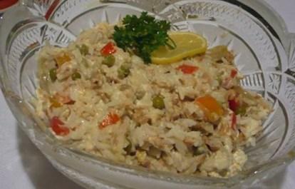 Рецепт рисового салата с тунцом