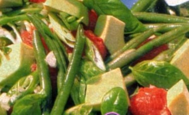 Рецепт салата из фасоли с брынзой