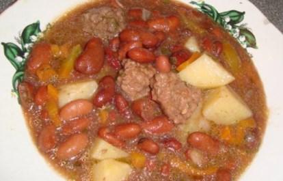 Рецепт фасолевого супа с фрикадельками на копченом сале