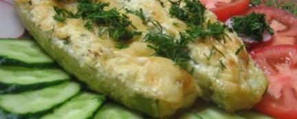 Рецепт запечённых кабачков с сырной корочкой