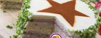 Рецепт бутербродного закусочного торта
