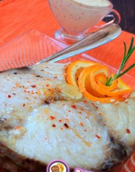 Рецепт белорыбицы с апельсиновым майонезом