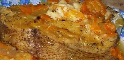 Рецепт сома, запечённого под грибным соусом