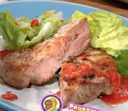 Рецепт свиной отбивной с беконом