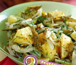 Рецепт теплого салата из печеного картофеля
