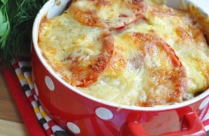 Рецепт запеканки из картофеля с помидорами