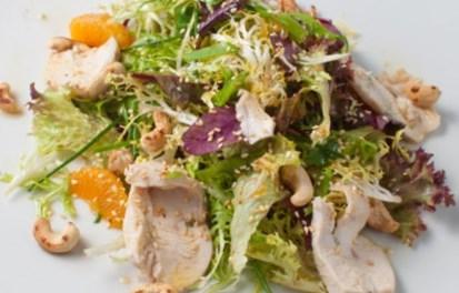 Рецепт салата с куриным филе и мандарином