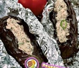 Рецепт холодной закуски из фаршированных баклажанов
