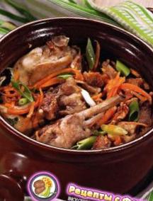 Рецепт кролика в горшочке по-пфальцски