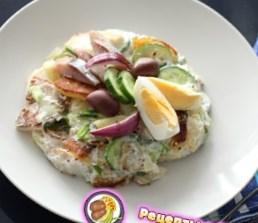 Рецепт теплого картофельного салата с сельдью