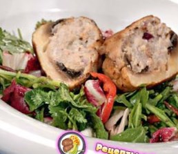 Рецепт шампиньонов, фаршированных свининой