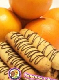 Рецепт апельсинового печенья с орешками