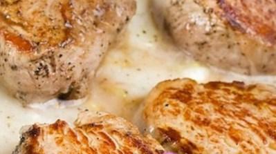 Рецепт свиной отбивной в сливках